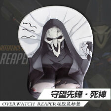 Anime Game Mousepad Mat Overwatch Reaper 3D Breast Silicone Wrist Rest Playmat