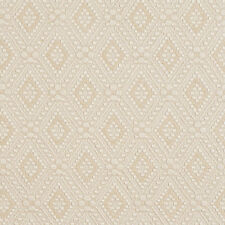 E564 Ivory White, Diamond Jacquard Upholstery Grade Fabric By The Yard