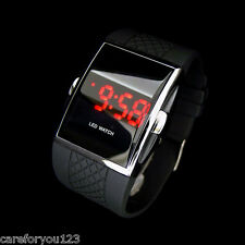 Fashion Men's LED Date Digital Watch Water Resistant Sport Black Wrist Watch