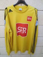 VINTAGE Maillot porté COUPE de FRANCE jaune ADIDAS SFR n°13 XL football trikot