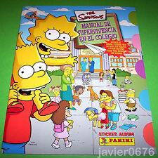 THE SIMPSONS MANUAL DE SUPERVIVENCIA EN EL COLEGIO ALBUM COMPLETO