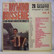 33T RAYMOND BOISSERIE Disque LP 28 SUCCES MUSETTE Vol 4 Enr Public TRIANON 15252