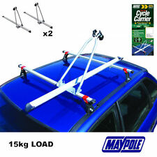 2X New MAYPOLE RB1050 CAR ROOF MOUNTED UPRIGHT CYCLE BIKE CARRIER 15KG