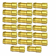 4.7mm Brass Bullet Connectors - Lucas pack of 100