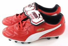 Puma Mens King Top Di Red White & Gold Leather Soccer Cleats Size 7.5 US