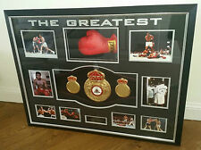 *** Rare MUHAMMAD ALI SIGNED GLOVE and BOXING CHAMPIONSHIP BELT Display Case ***
