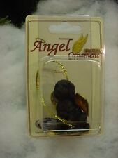 LABRADOODLE black DOG ANGEL ORNAMENT Figurine Statue NEW Christmas Lab Do puppy