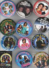12 UNUSUAL Barack OBAMA pin Campaign pinback HISTORIC Star MICHELLE 2008 - 2012
