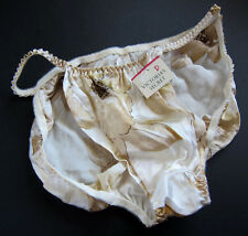 NWT Victoria's Secret VINTAGE Silk Flutter Floral String Bikini Panties MEDIUM
