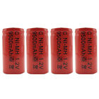4PCS C Size 9500mAh 1.2V Ni-MH Rechargeable Battery RC Toy Radio Torch Pack Red