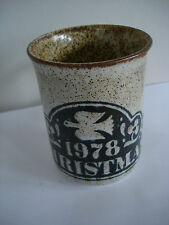 DUNOON CERAMICS CRAFTMADE STONEWARE CHRISTMAS 1978 MUG NEW AND UNUSED