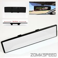 300mm JDM Panoramic Wide-Angle Flat Reflect Clip-on Rear View Mirror Clear Lens