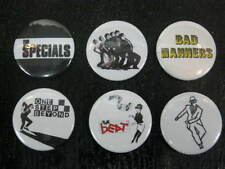 Quality Ska Retro Pin Badge Set Of 6 - Specials, Madness, Bad Manners, Beat, etc