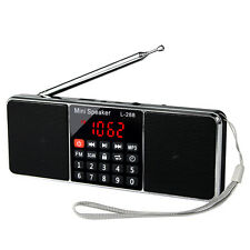 Digital FM Stereo Radio Receiver MP3 Player 2-Channel Multimedia Speaker Timer