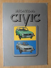 HONDA CIVIC 1200 orig 1978-79 UK Mkt Sales Brochure