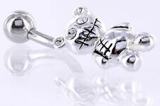 "14g 7/16"" Zombie Teddy Steel Belly Button Ring"