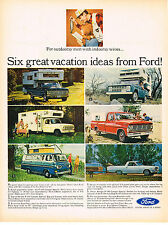 Vintage 1967 Magazine Ad Ford Vehicles  For Outdoorsy Men With Indoorsy Wives
