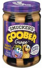 Smucker's Grape Stripes Goober Peanut Butter and Jelly, 18 Oz, New NO Tax~