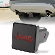 "Bully Hitch Cover 2"" Rear LED Trailer Towing Receiver with Brake Lights for JEEP"