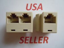 2x RJ45 CAT5 6 LAN Ethernet Network Cable Extender Splitter Connector Adapter PC