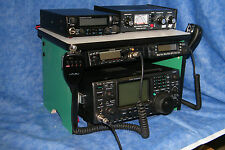 Green Scanner Radio Bench Mount Rack Stack or Holder Kenwood Yaesu Icom Mike