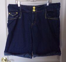 Que Hermosa Women's Stretch Dark Wash Denim Shorts Size 24