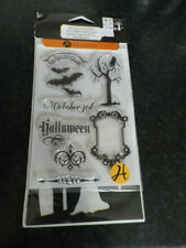 "Hampton Art"" Halloween  "" Clear Rubber Stamps and tree stencil"