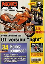 MOTO JOURNAL 1291 HONDA NT 650 Deauville TRIUMPH 900 TROPHY CB 500 VT 600 Shadow