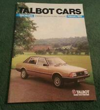 MINT February 1982 TALBOT SAMBA HORIZON SOLARA ALPINE RANCHO UK 56pg BROCHURE