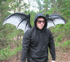 4' Moving Gray Devil Gargoyle Bat Wings Adult Halloween Costume Accessory