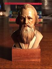 ANRI TORIART JOHANNES BRAHMS WOOD-EN BUST Made in Italy Hand Carved Statue Piano