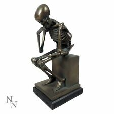 NEMESIS NOW THE THINKER SKELETON DEATH BRONZE ORNAMENT 27CM FIGURINE GOTHIC GIFT