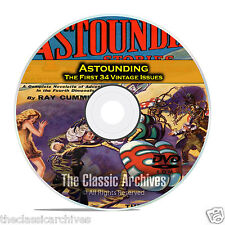 Astounding, First 34 Vintage Pulp Magazine, Golden Age Science Fiction DVD C40