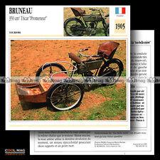#096.12 BRUNEAU 350 TRICAR 'PROMENUR' 1905 Classic Fiche Moto Motorcycle Card