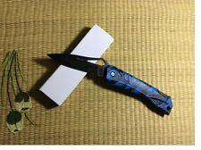 Skull Blue Handle Pocket Folding Knife EDC Small Gifts Knife  G131LanA