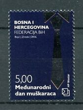 Bosnia y Herzegovina 2016 estampillada sin montar o nunca montada Día Internacional de hombre 1v conjunto de sellos