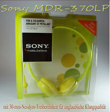 NEU Sony MDR-370 STEREO KOPFHÖRER IPOD MP3 IPHONE SAMSUNG TEENAGER KIDS KINDER