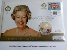 2006 SILVER PROOF GIBRALTAR £5 CROWN COIN  PNC + COA THE QUEENS 80th BIRTHDAY