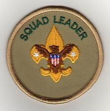 "Squad Leader Position Patch, ""Scout Stuff"" Backing, Mint!"