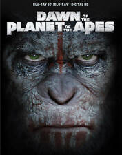 Dawn of the Planet of the Apes (Blu-ray and Blue-Ray 3D, 2014) No digital copy