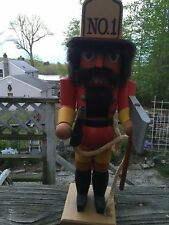 "Erzgebirge authentic handmade Fireman 13"" nutcracker West Germany"