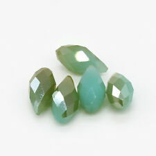 Pretty 10pcs Top-drilled Faceted Glass Crystal Teardrop Beads 6x12mm B189