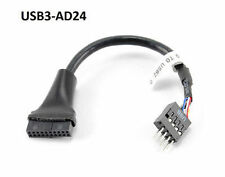 "4"" USB 3.0 20-Pin Motherboard Header Female to USB 2.0 8-Pin Male Adapter"