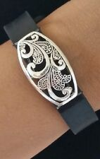 Fitness Band Wraps Bling Jewelry For Fitbit Flex Alta Jawbone ~ Oval Filigree