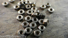 50 x small 10BA BRASS HEX FULL NUT  BRASS BA NUTS   10 BA model steam restore