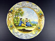 Antique Plat Majolique Castelli Cantagalli Urbino Piatto Maiolica XIX Italian #3