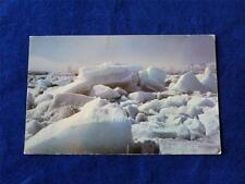 MOOSE FACTORY POSTCARD SPRING ICE BREAK UP MOOSE RIVER ONTARIO OLDEST SETTLEMENT