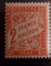 timbre france, n°41 Taxe 2f Orange Tb Qualité Signe Calves Côté. 700€ neuf **