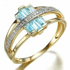 Jewelry Rare Size 9 Olive Cut Sapphire 10KT Gold Filled Women's Wedding Ring