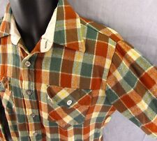 Hi Gear Plaid Vintage Flannel Shirt M Button Front 100% Acrylic Medium 15-15.5